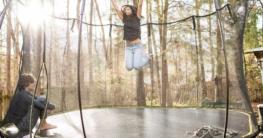 trampolin mit griff